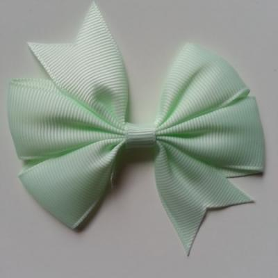 Gros noeud en ruban gros grain  80mm vert d'eau très pale