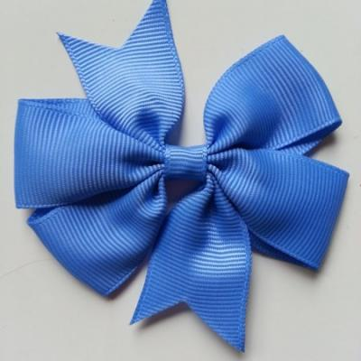 Gros noeud en ruban gros grain  80mm bleu