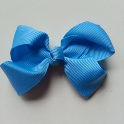 Noeud  en ruban gros grain  70*45mm bleu