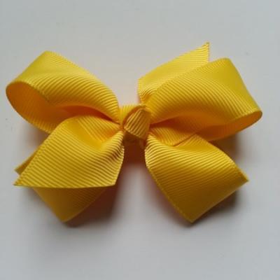 Noeud  en ruban gros grain  70*45mm jaune