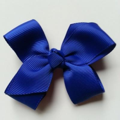 Noeud  en ruban gros grain  70*45mm bleu royal