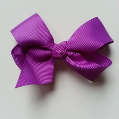 Noeud  en ruban gros grain  70*45mm violet