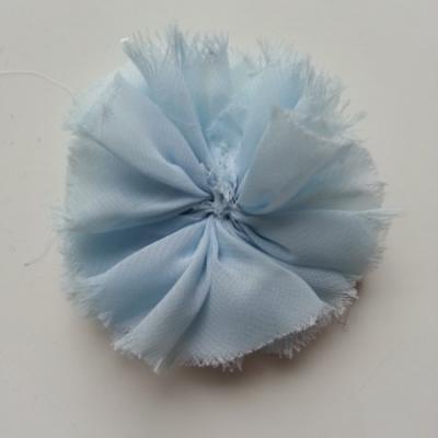 applique en tissu mousseline 80mm bleu ciel