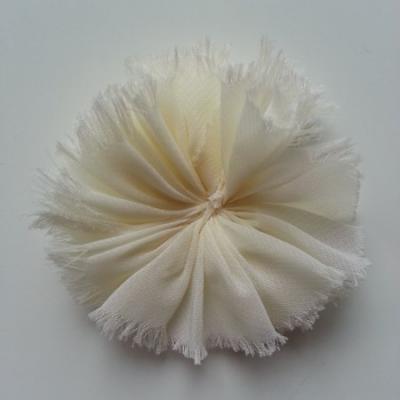 applique en tissu mousseline 80mm ivoire