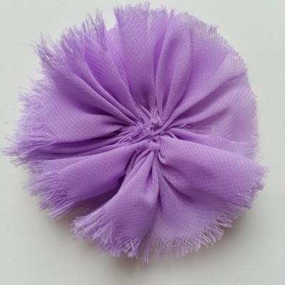 applique en tissu mousseline 80mm mauve