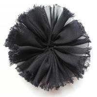 applique en tissu mousseline 80mm noir