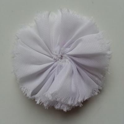 applique en tissu mousseline 80mm blanc