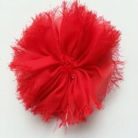 applique en tissu mousseline 80mm rouge