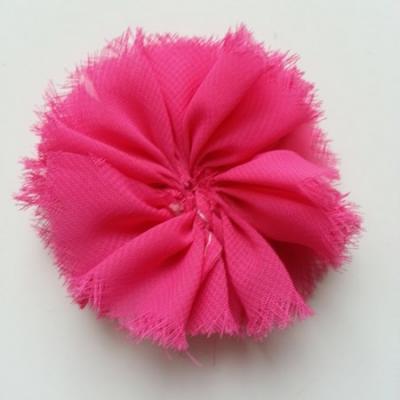 applique en tissu mousseline 80mm rose fuchsia