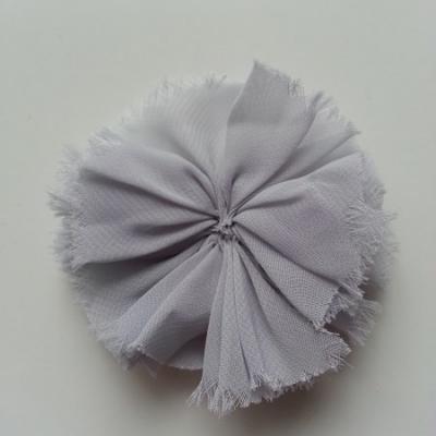 applique en tissu mousseline 80mm gris
