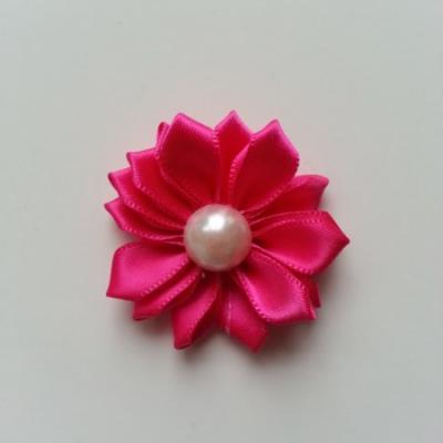 fleur satin demi perle  35mm rose fuchsia