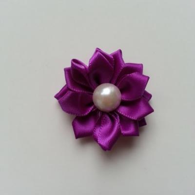 fleur satin demi perle  35mm violet