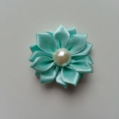 fleur satin demi perle  35mm vert pastel