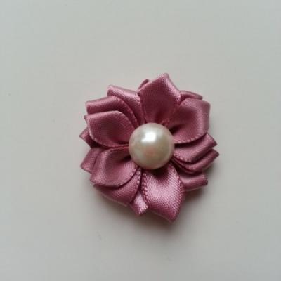 fleur satin demi perle  35mm vieux rose