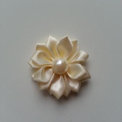 fleur satin demi perle  35mm ivoire