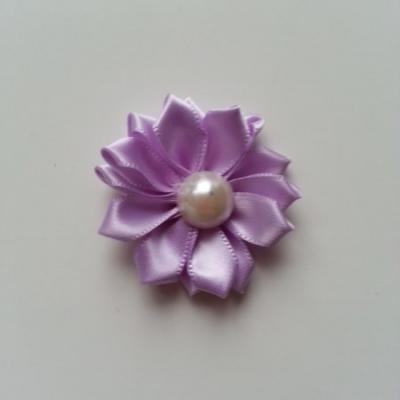 fleur satin demi perle  35mm mauve