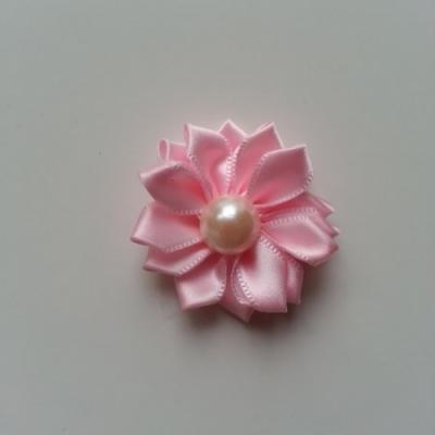 fleur satin demi perle  35mm rose