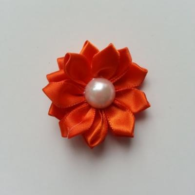 fleur satin demi perle  35mm orange