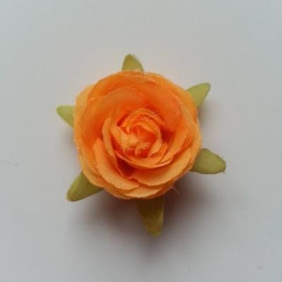 rose en tissu orange 40mm