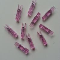 épingles à linge en plastique rose 8*35mm en lot de 10