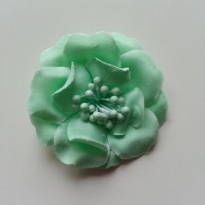 Fleur pistils   en tissu verte 50mm