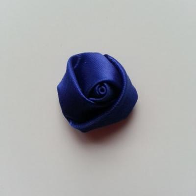 Fleur de satin bouton de rose 2.2cm bleu foncé