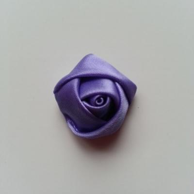 Fleur de satin bouton de rose 2.2cm lavande