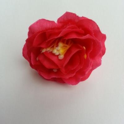 fleur en tissu et pistil rose fuchsia   50mm