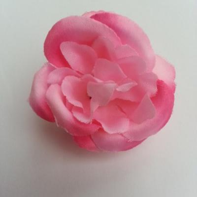 fleur en tissu 2 tons de rose 50mm