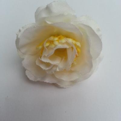 fleur en tissu et pistil ivoire 50mm