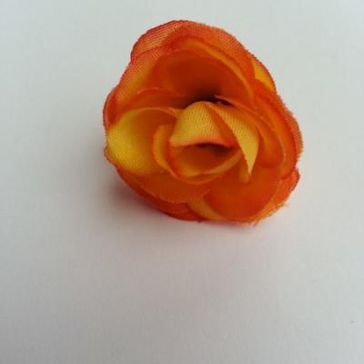 fleur en tissu 35mm orange