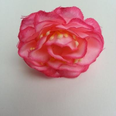 fleur en tissu et pistil rose 50mm