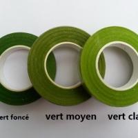 Rouleau de floraltape  pour la fabrication de fleurs et assemblage vert clair