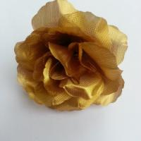 rose en tissu 70mm doré or
