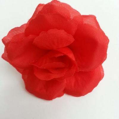 fleur en tissu  70mm rouge