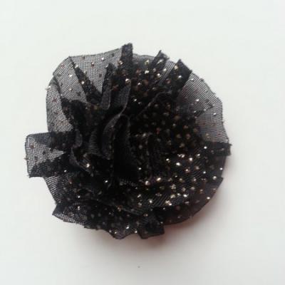 rosette pailleté 50mm noir