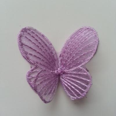 double papillon en dentelle 42*50mm  mauve