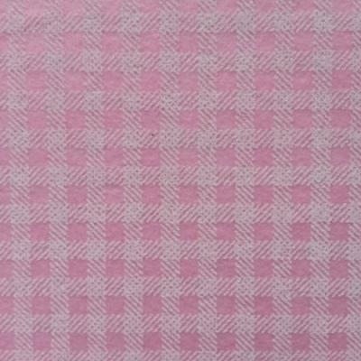Carré de feutrine motif carreaux 15*15cm rose et blanc