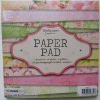 bloc de 36 feuilles de papier 15*15cm dans les tons vert et rose