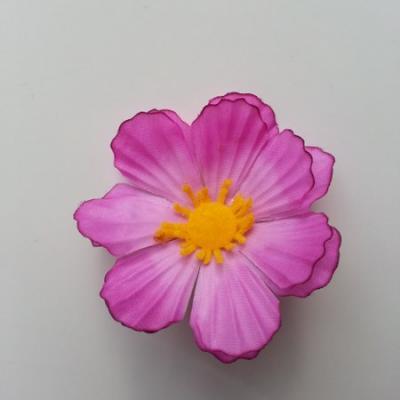 fleur en tissu mauve 60mm