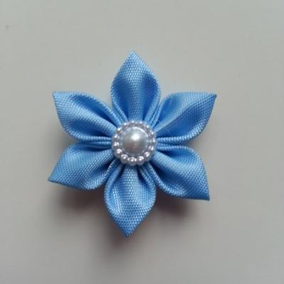 fleur en tissu 4cm bleu ciel pétales pointus