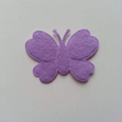 Papillon  en feutrine  mauve 45*35mm