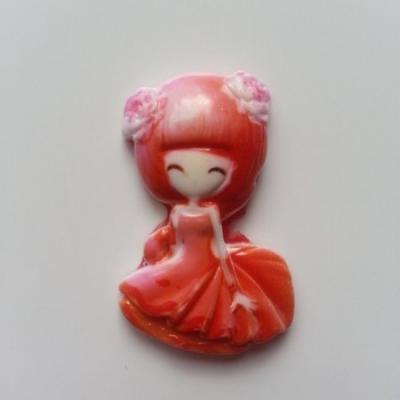 Petite fille en résine 30*40mm orange