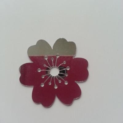 Fleur effet miroir 37mm