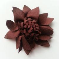 fleur en tissu 70mm marron
