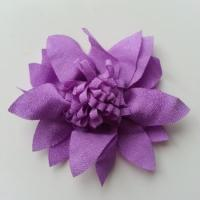 fleur en tissu 70mm violet