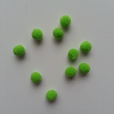 Lot de 10 petits pompons  8mm vert