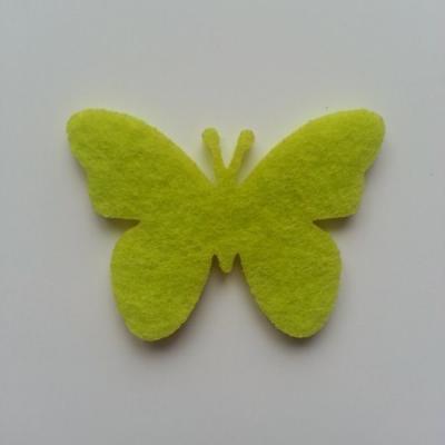 papillon  en feutrine vert 55*40mm
