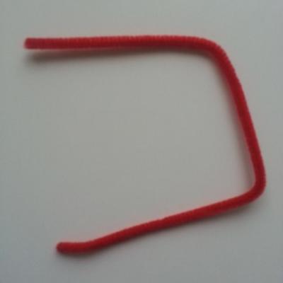 Tige de fil chenille cure pipe 0.6*30cm rouge