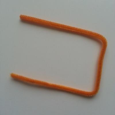 Tige de fil chenille cure pipe 0.6*30cm orange